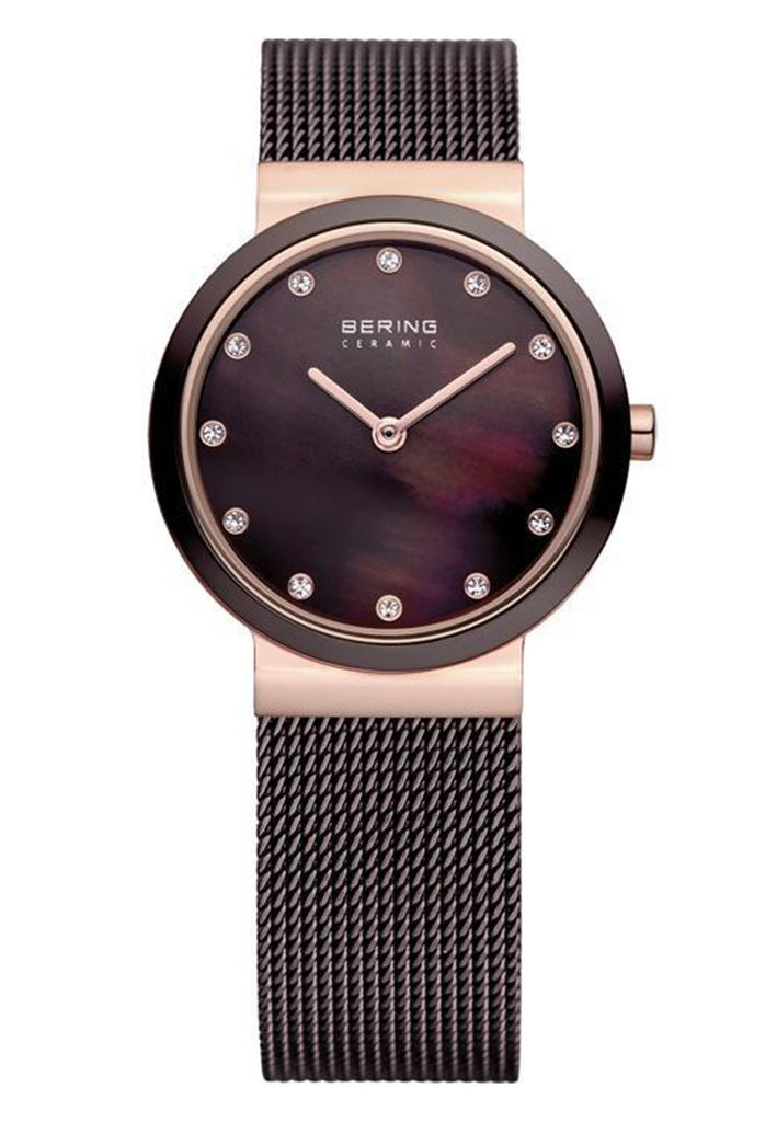 Bering-Ceramic/Brown/Rose Gold/Brown/25mm-Watch-10725-262-THE UNIT STORE