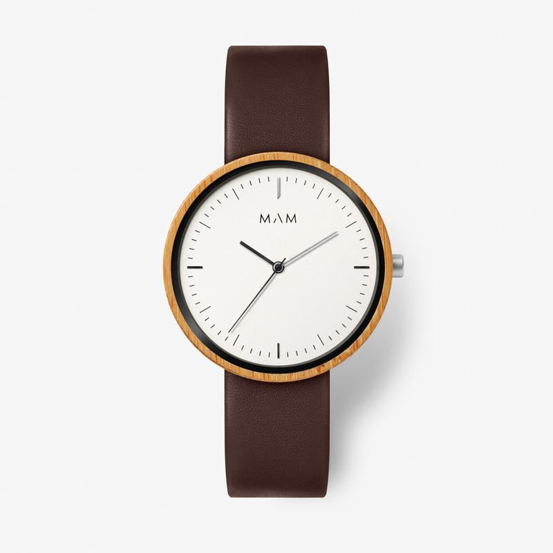MAM ORIGINALS-Plano Light Bamboo Cooper 39 mm-Watch-MAM-650-THE UNIT STORE