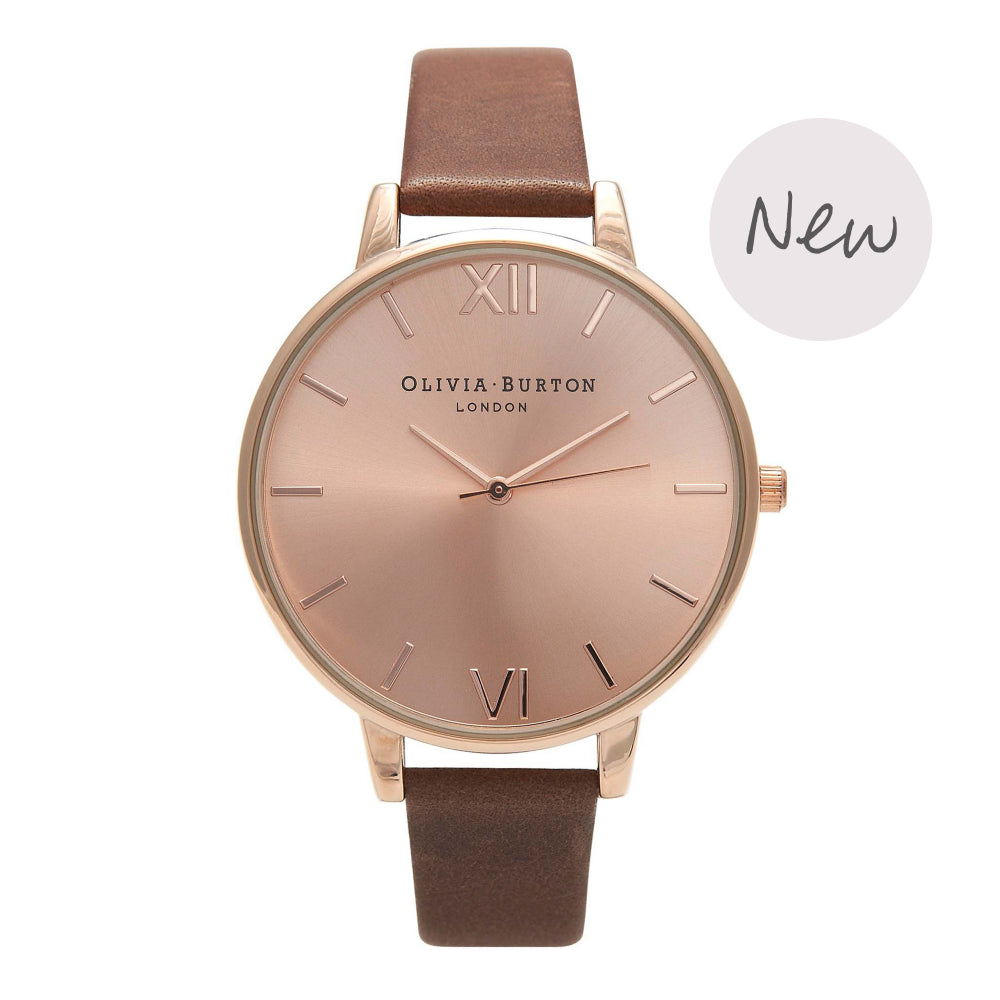 OLIVIA BURTON-Big Dial Chocolate & Rose Gold-Watch-OB16BD105-THE UNIT STORE