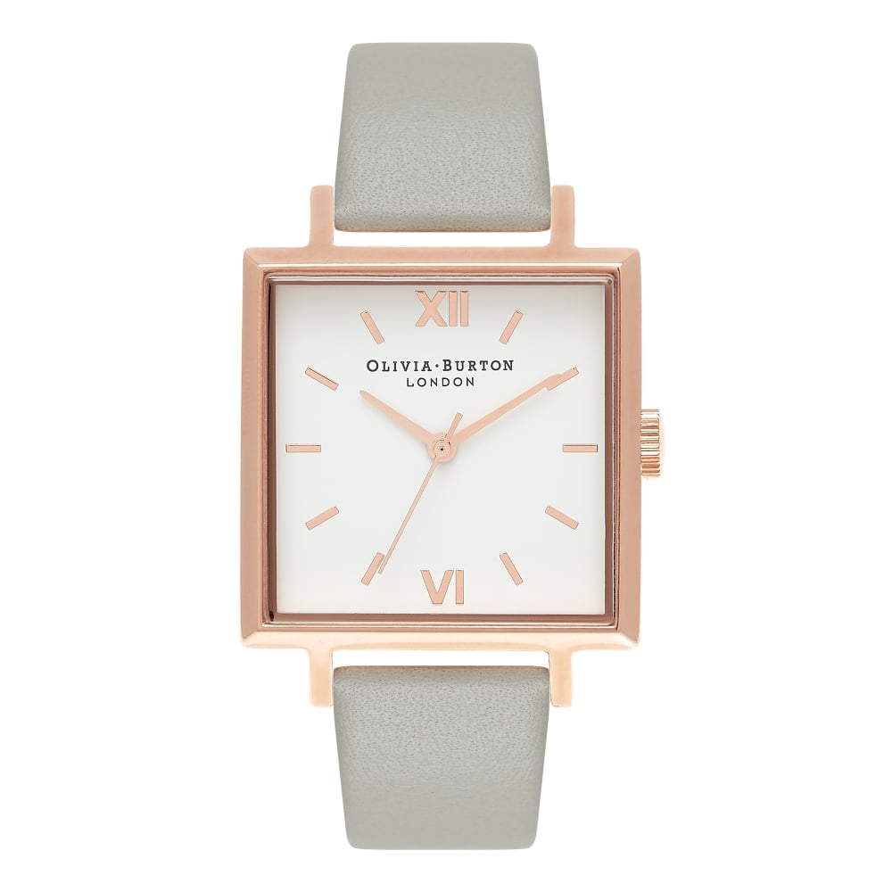 OLIVIA BURTON-Big Dial Square Dials Grey & Rose Gold-Watch-OB16SS23-THE UNIT STORE