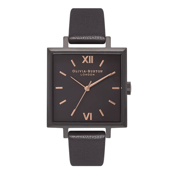 OLIVIA BURTON-Big Dial Square Dials Ip Black & Rose Gold-Watch-OB16SS14-THE UNIT STORE