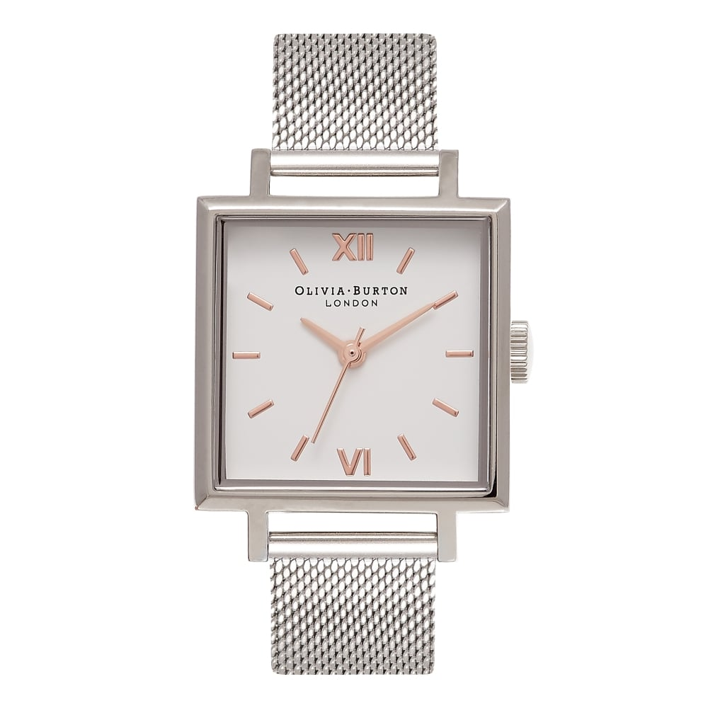 Big Dial Square Dials Silver Mesh__OLIVIA BURTON_Watch_THE UNIT STORE