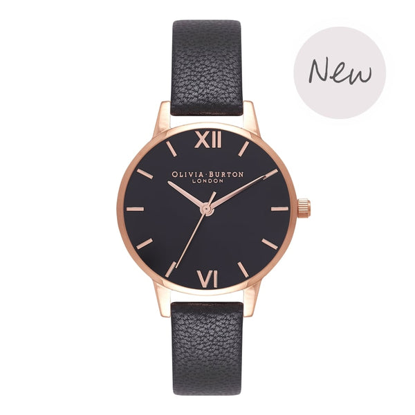 Black Dial Sunray Black & Rose Gold