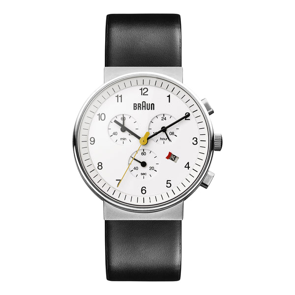 BN0035 White Dial 40mm Black Strap Gent