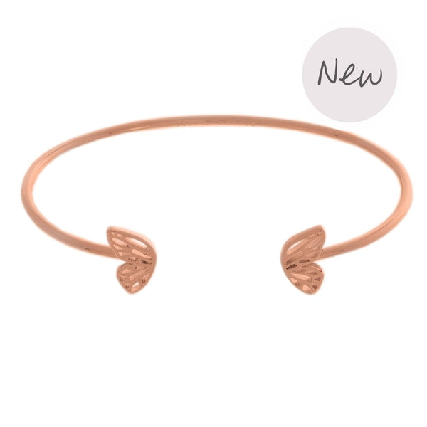 OLIVIA BURTON-Butterfly Wing Bangle Rose Gold-Jewellery-OBJ16EBB05-THE UNIT STORE