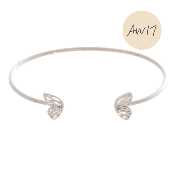 OLIVIA BURTON-Butterfly Wing Bangle Silver-Jewellery-OBJ16EBB06-THE UNIT STORE