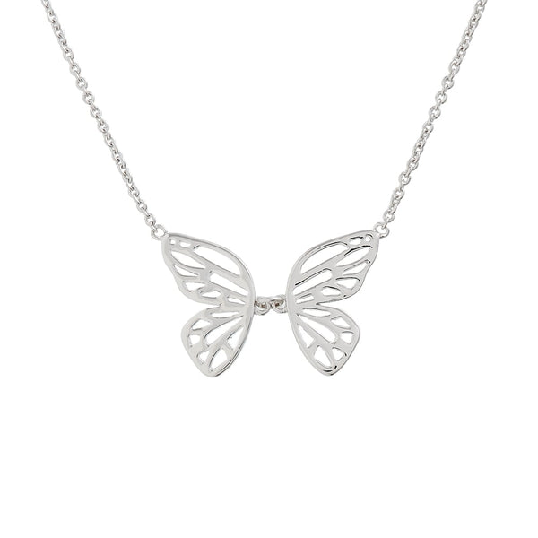 OLIVIA BURTON-Butterfly Wing Necklace Silver-Jewellery-OBJ16EBN06-THE UNIT STORE