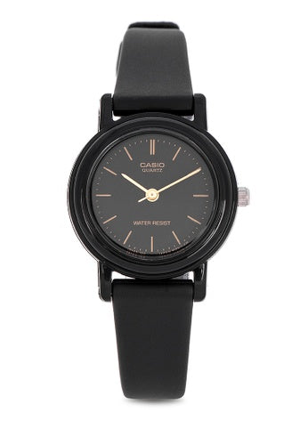 Analog - Ladies' / Black Gold Dial Black / Black Resin