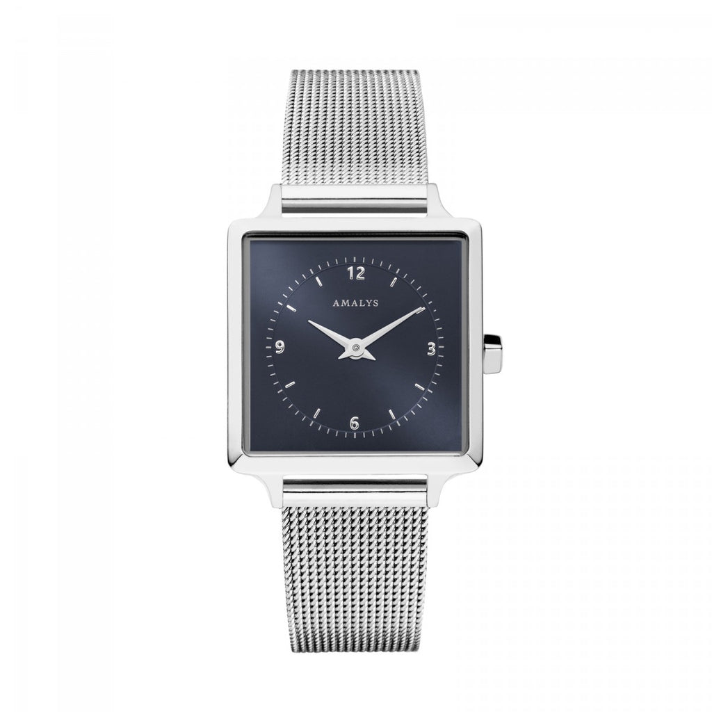 Amalys-Chloe Sunray Navy Blue/Silver/Silver Mesh/25mm-Watch-AMW-011-THE UNIT STORE