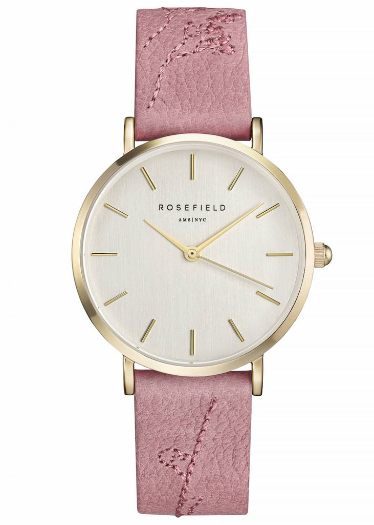 Rosefield-City Bloom Rose Brush Gold-Watch-RF-CIRBG-E92-THE UNIT STORE