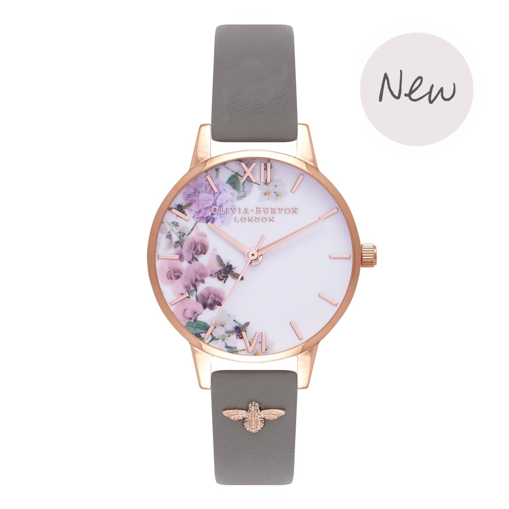 OLIVIA BURTON-Enchanted Garden London Grey & Rose Gold-Watch-OB16ES06-THE UNIT STORE