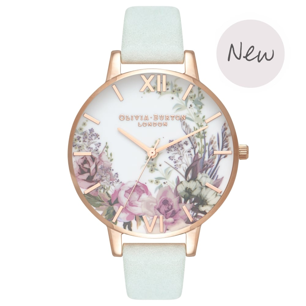 OLIVIA BURTON-Enchanted Garden Sage & Rose Gold-Watch-OB16EG105-THE UNIT STORE