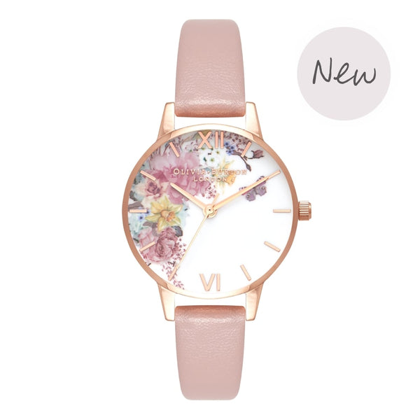 OLIVIA BURTON-Enchanted Garden Vegan Rose Sand & Rose Gold-Watch-OB16EG100-THE UNIT STORE