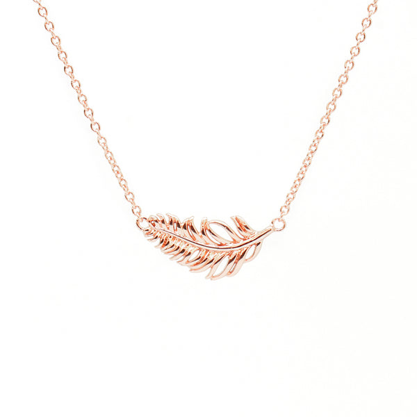 Cirque Poesie-Plain Feather Bracelet Rosegold-Jewellery-CP-BR-FEA-RG-00-THE UNIT STORE