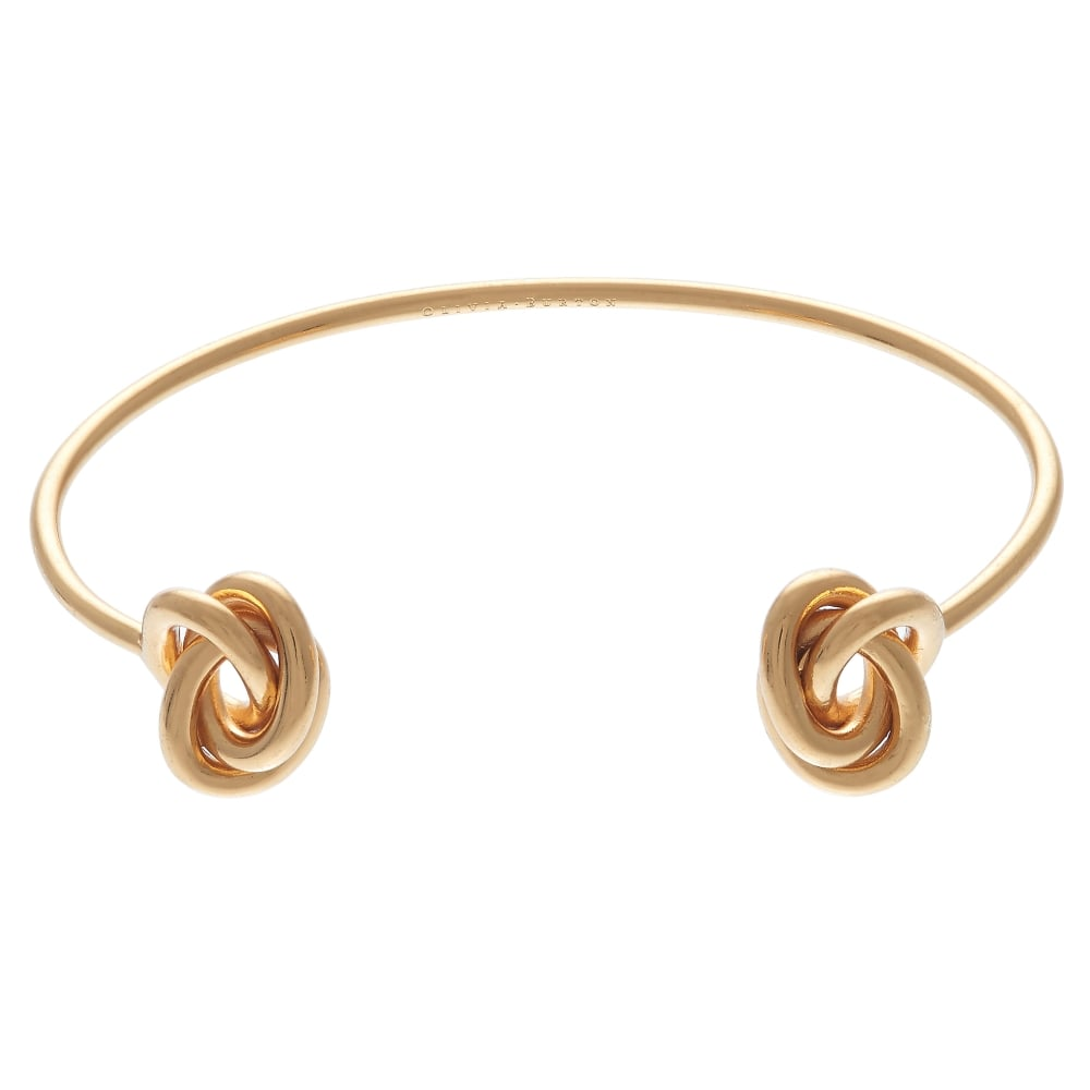 OLIVIA BURTON-Forget Me Knot Open Ended Bangle Gold-Jewellery-OBJ16KDB01-THE UNIT STORE