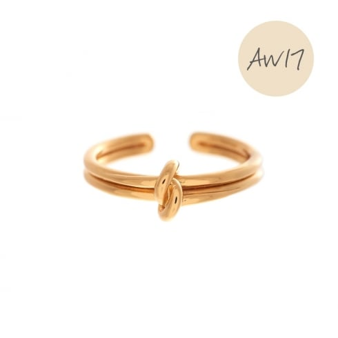 OLIVIA BURTON-Forget Me Knot Ring Gold-Jewellery-OBJ16KDR01-THE UNIT STORE
