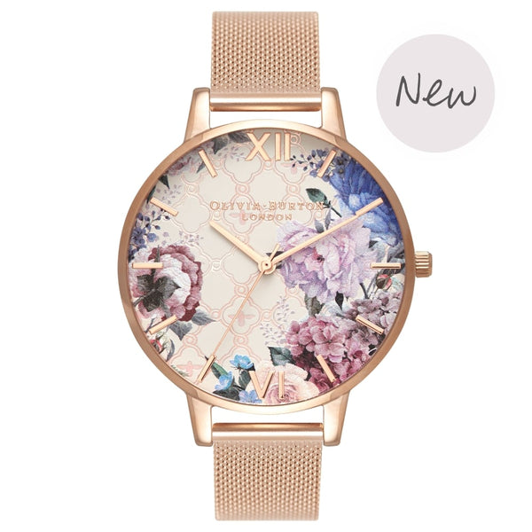OLIVIA BURTON-Glasshouse Rose Gold Mesh-Watch-OB16EG86-THE UNIT STORE