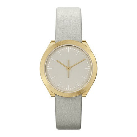 Normal Timepieces-Gold Case / Grey Dial / Grey Leather Band-Watch-H01-L15GR-THE UNIT STORE
