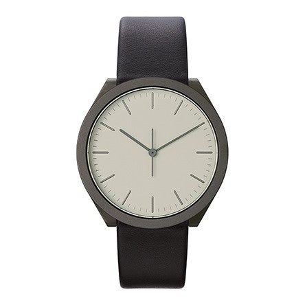 Normal Timepieces-Gunmetal Case / Black Leather Band-Watch-H23-L18BL-THE UNIT STORE