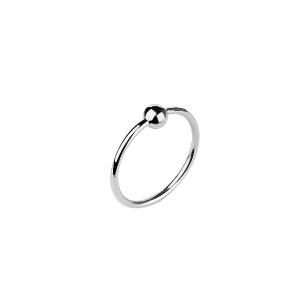 Maria Black-Helix Ring Silver HP-Jewellery-THE UNIT STORE