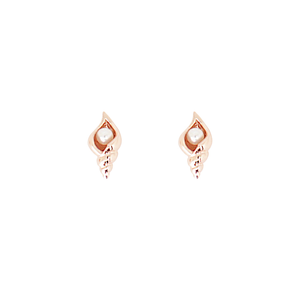Cirque Poesie-Conch Pearl Earrings Rosegold-Jewellery-CP-ER-COP-RG-00-THE UNIT STORE