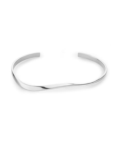 Iggy Twisted Bangle Silver