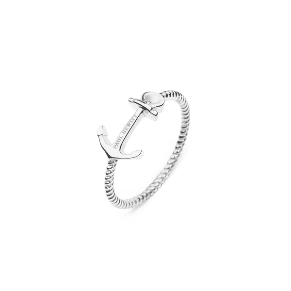 Paul Hewitt-Ring Anchor Rope Stainless Steel-Jewellery-THE UNIT STORE