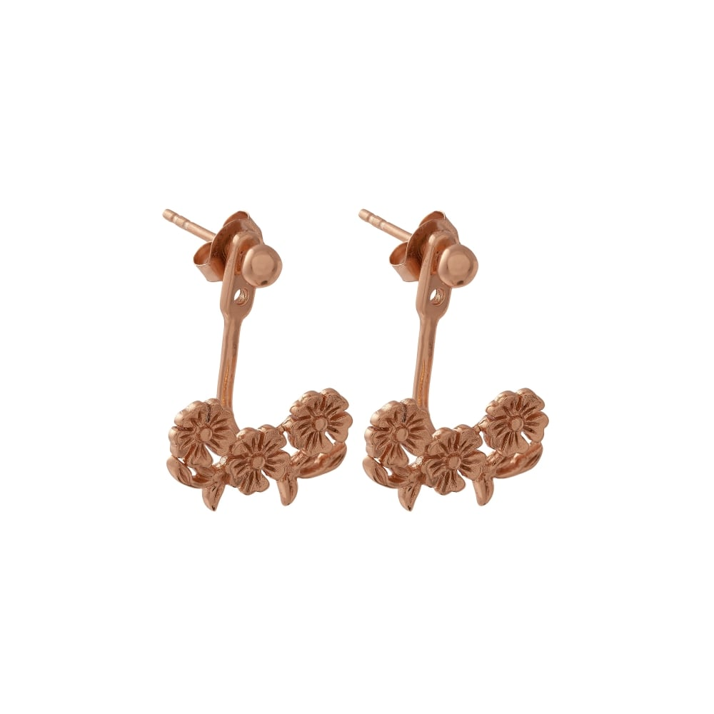 OLIVIA BURTON-Lace Detail Jacket Earrings Rose Gold-Jewellery-OBJ16LDE02-THE UNIT STORE