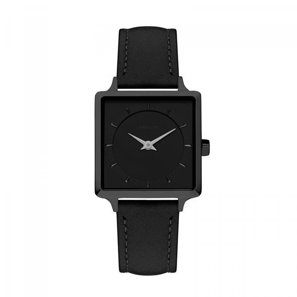 Amalys-Leonor Black/Black/Black Suede Leather/25mm-Watch-AMW-006-THE UNIT STORE