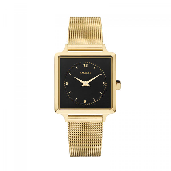 Amalys Lise Black/Gold/Gold Mesh/25mm AMW-017