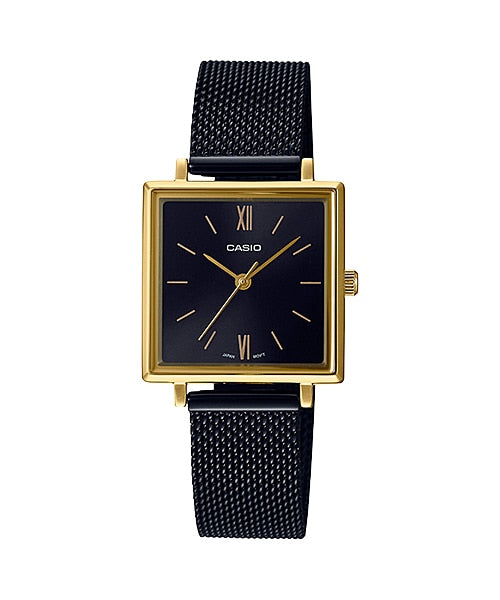 Classic / Black Dial Gold Square / Black Mesh