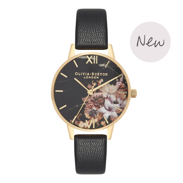 OLIVIA BURTON-Cut & Sew Black & Gold-Watch-OB16CS11-THE UNIT STORE