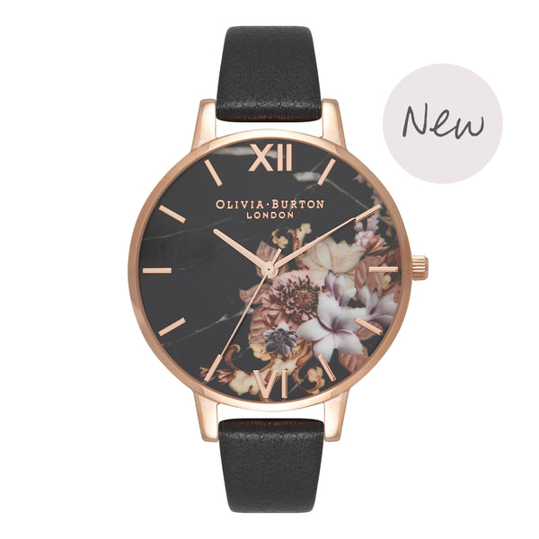 OLIVIA BURTON-Cut & Sew Black & Rose Gold-Watch-OB16CS01-THE UNIT STORE