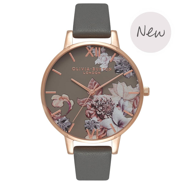 OLIVIA BURTON-Marble Florals Dark Grey & Rose Gold-Watch-OB16CS08-THE UNIT STORE