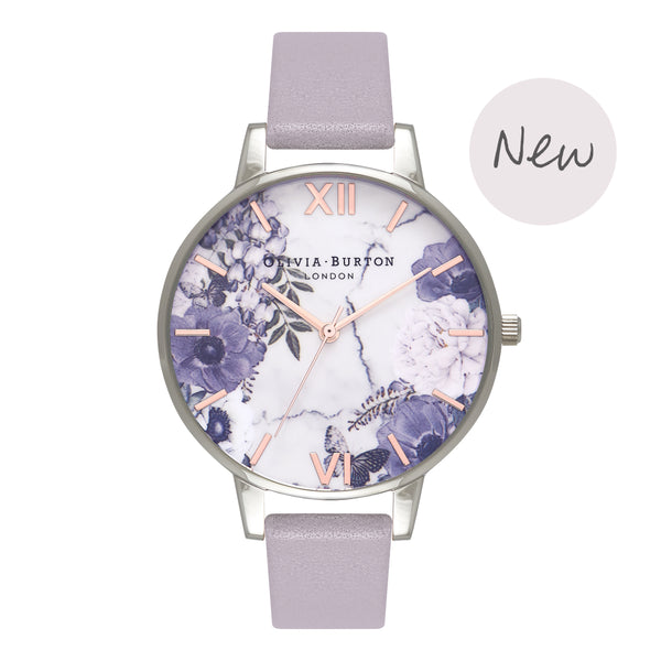 OLIVIA BURTON-Marble Florals Grey Lilac Silver & Rose Gold-Watch-OB16MF05-THE UNIT STORE