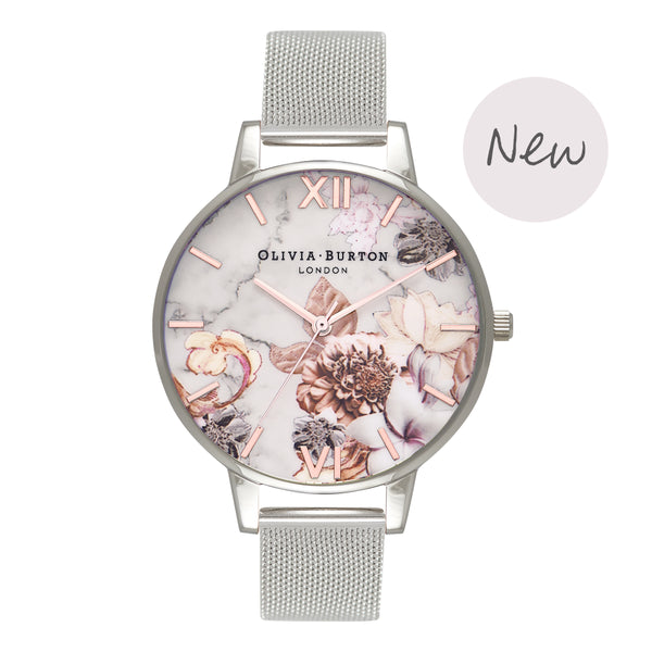 OLIVIA BURTON-Cut & Sew Rose Gold & Silver Mesh-Watch-OB16CS10-THE UNIT STORE