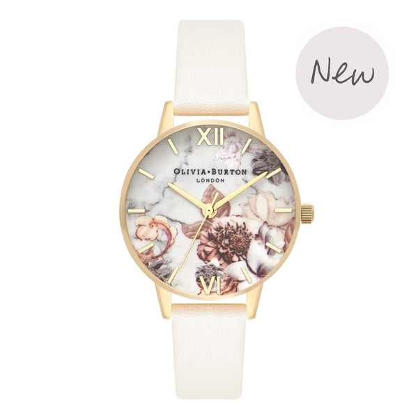 OLIVIA BURTON-Marble Florals Nude & Gold-Watch-OB16CS15-THE UNIT STORE