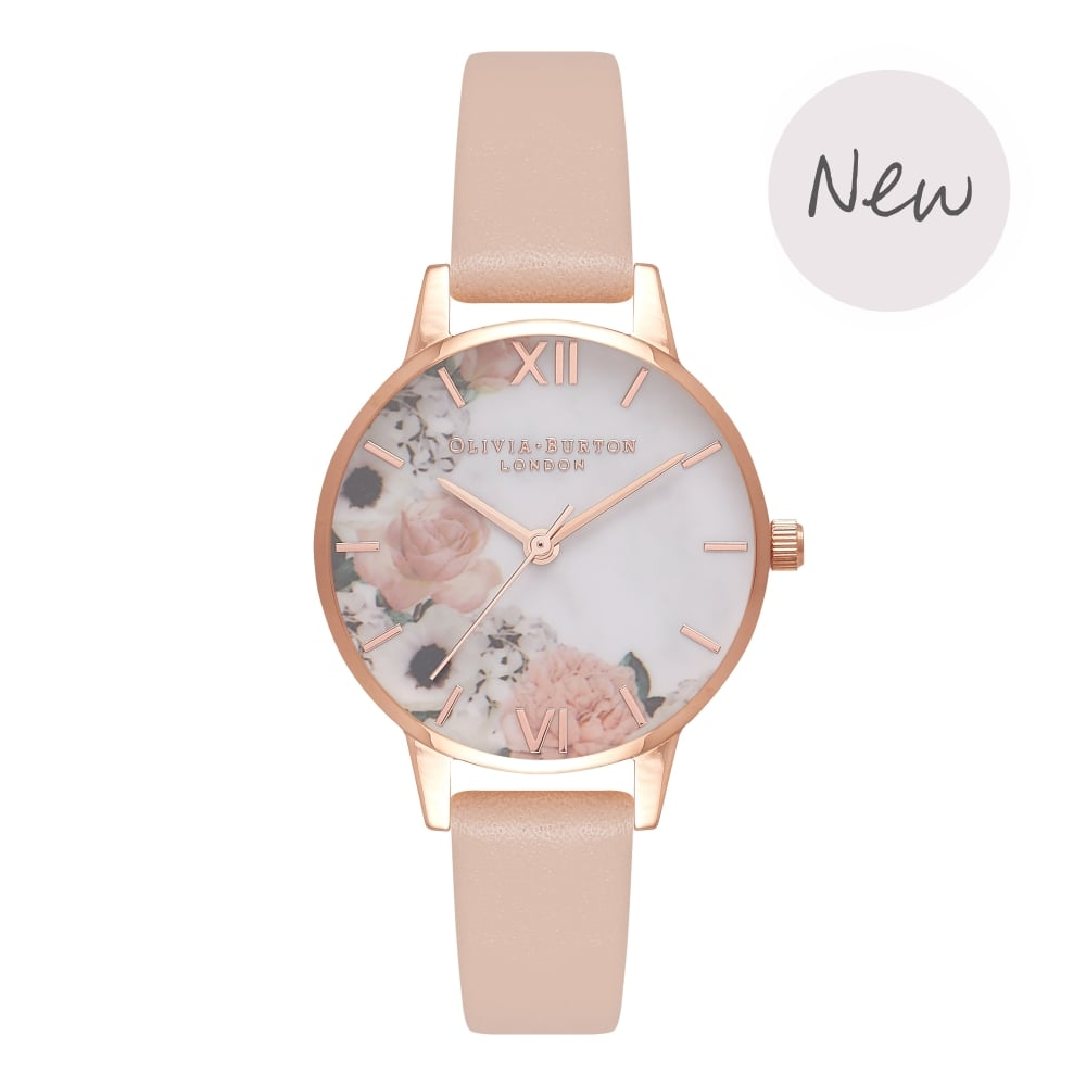 Marble Florals Nude Peach & Rose Gold__OLIVIA BURTON_Watch_THE UNIT STORE