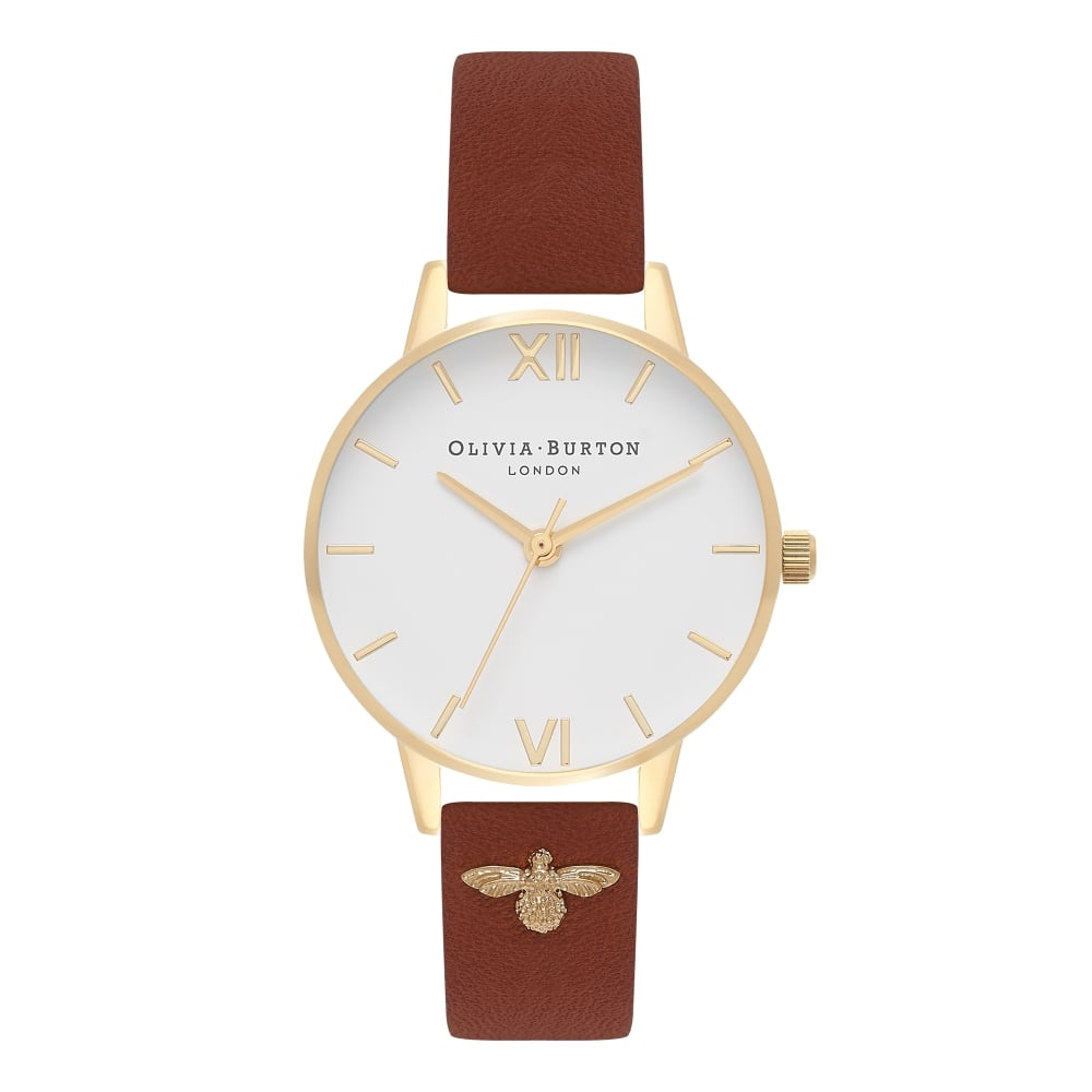OLIVIA BURTON-Embellished Strap Tan & Gold-Watch-OB16ES14-THE UNIT STORE