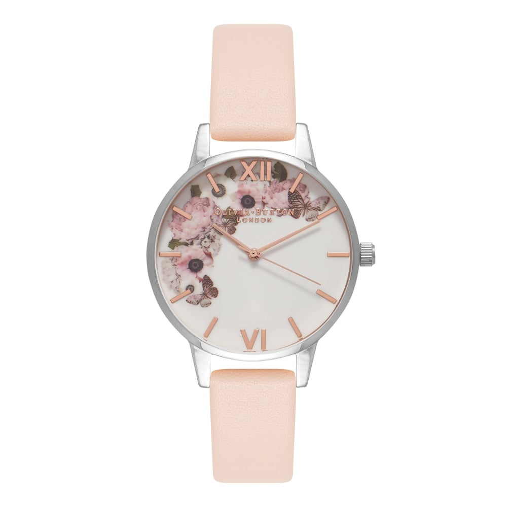 Signature Florals Nude Peach Silver & RG__OLIVIA BURTON_Watch_THE UNIT STORE