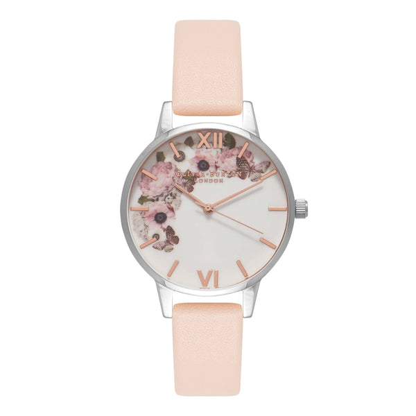 OLIVIA BURTON-Signature Florals Nude Peach Silver & RG-Watch-OB16EG75-THE UNIT STORE