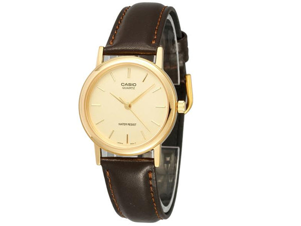 Classic / Gold Dial Gold / Brown Leather