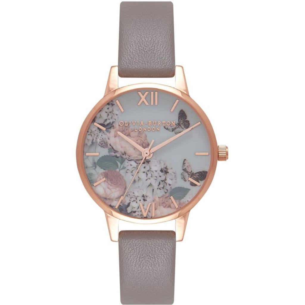 OLIVIA BURTON-Enchanted Garden London Grey & Rose Gold-Watch-OB16EG67-THE UNIT STORE