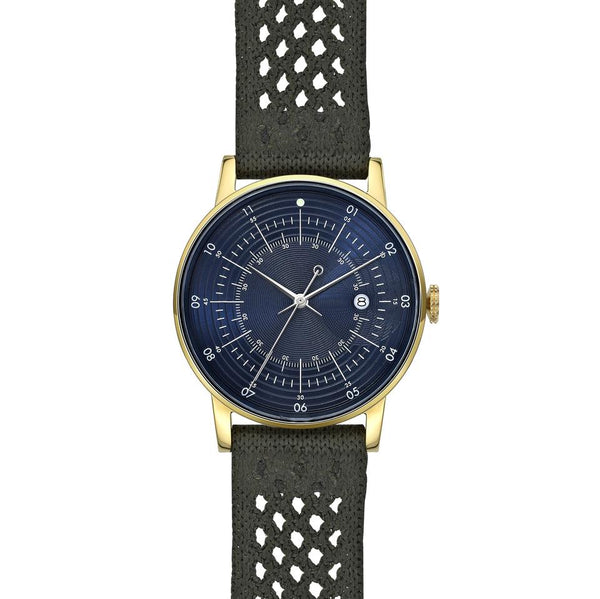 Squarestreet-Gold Navy Dial Army SUPLON Strap-Watch-SQ38 PS-93-THE UNIT STORE