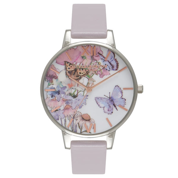 OLIVIA BURTON-Painterly Prints Grey Lilac Silver & Rose Gold-Watch-OB16PP15-THE UNIT STORE