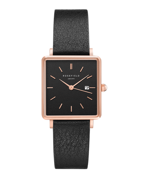 The Boxy Black Black Rosegold__Rosefield_Watch_THE UNIT STORE