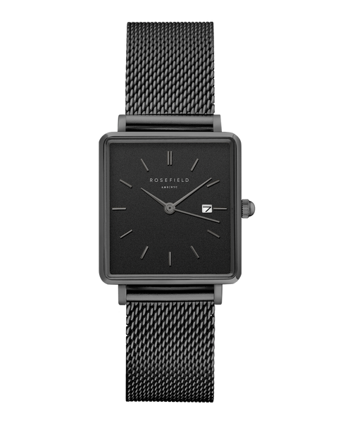 The Boxy Black Mesh Black__Rosefield_Watch_THE UNIT STORE