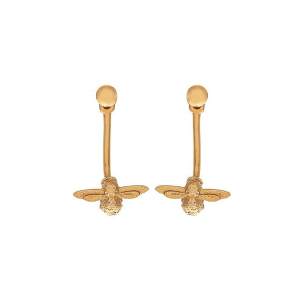 OLIVIA BURTON-Animal Motif Bee Earrings Gold-Jewellery-OBJ16AME01-THE UNIT STORE