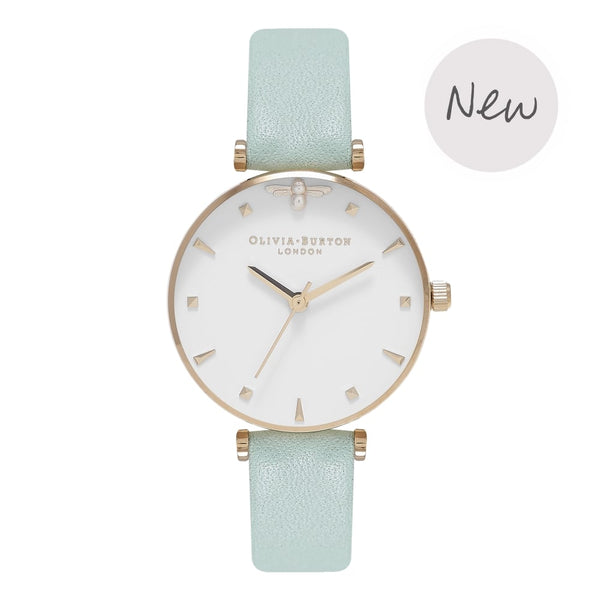 OLIVIA BURTON-Queen Bee Mint & Gold-Watch-OB16AM143-THE UNIT STORE