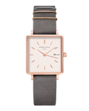 Rosefield-The Boxy White Elephant Grey Rosegold-Watch-RF-QWGR-Q12-THE UNIT STORE